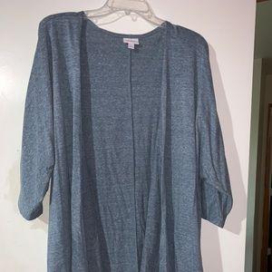 Short sleeve heathered Lularoe Lindsay kimono